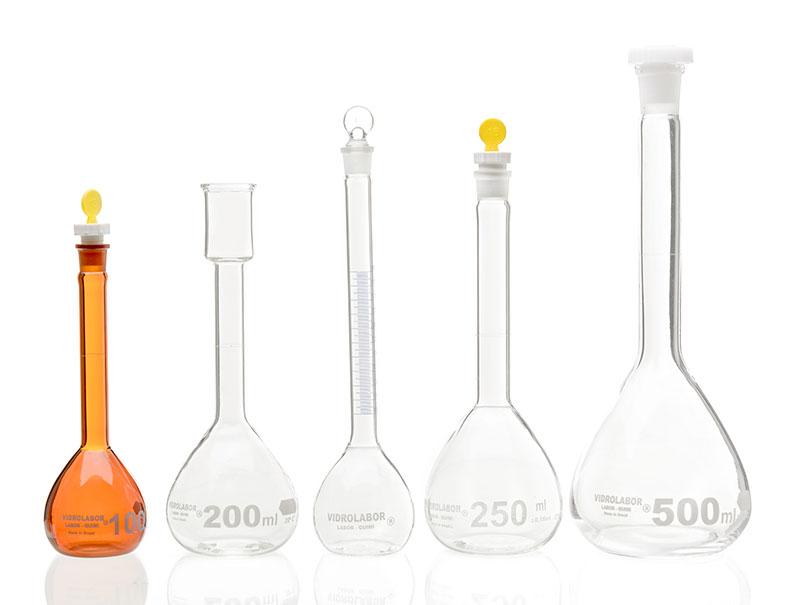 Balão de destilação laboratório