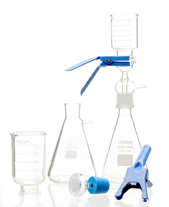 Vidrarias de laboratório de microbiologia