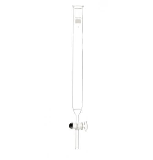 Coluna Cromatográfica com torneira de vidro e placa porosa  Filtrante ( d x h )