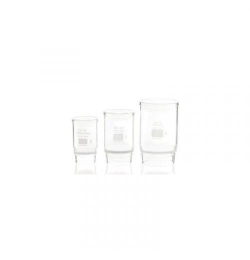 Cadinho de GOOCH, com placa filtrante de vidro sinterizado